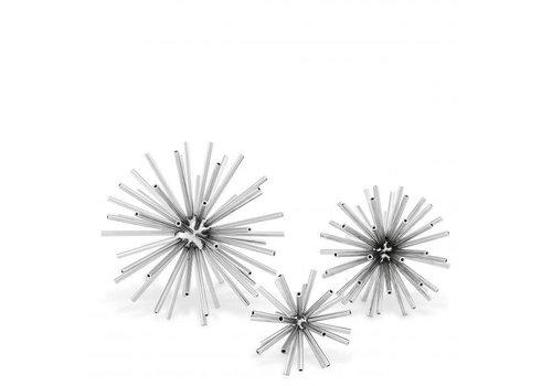 EICHHOLTZ Dekorationsobjekt 'Meteor' 3er-Set - Nickel