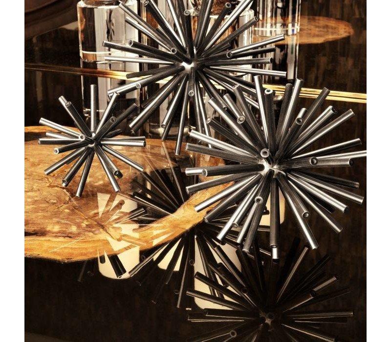 Dekorationsobjekt 'Meteor' 3er-Set - Nickel