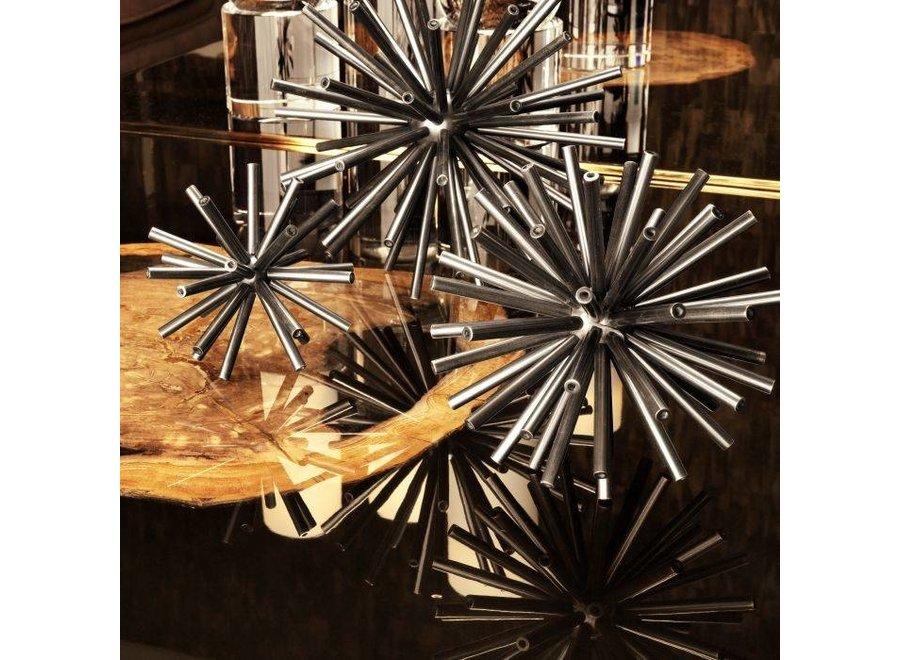 Decoratie object 'Meteor' set van 3 - Nickel