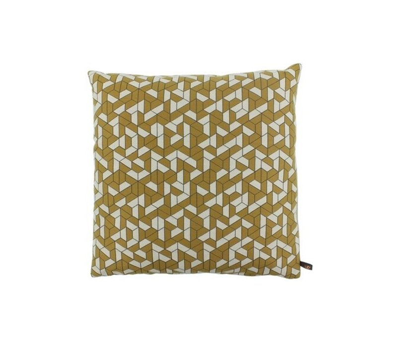 Throw pillow Mante Mustard