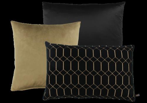 CLAUDI Cushion combination Black & Gold: Dafne, Mitchel & Petter