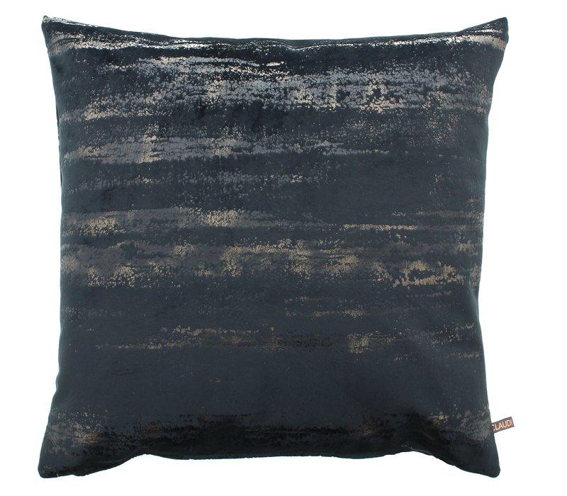 Decorative pillow Lama Black / Gold + piping