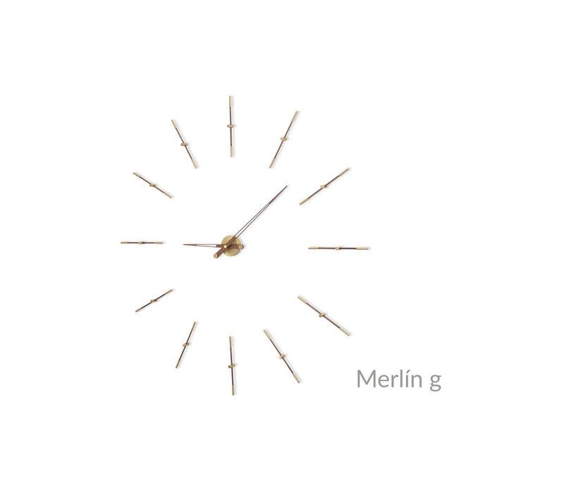 Large wall clock 'Merlin gold n'