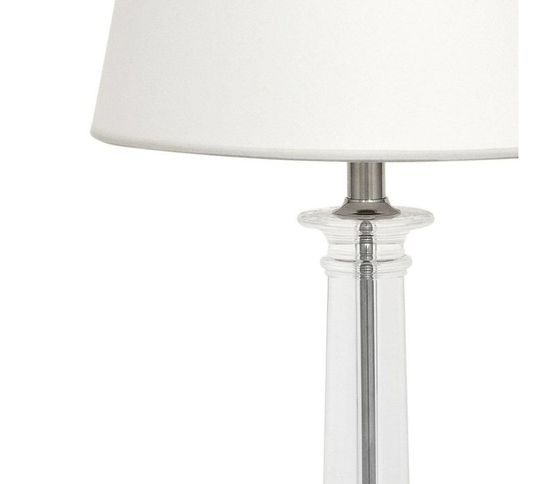 Table lamp Bulgari with white shade, 70 cm high