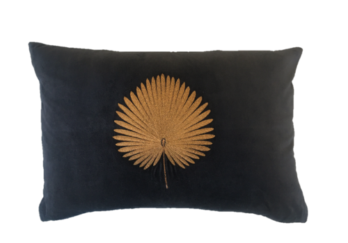 Leïlah Kussen Kava Bronze Fan Palm