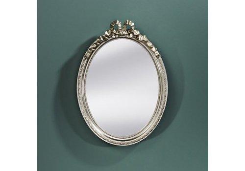 Deknudt Small oval mirror 'Cosy' in silver