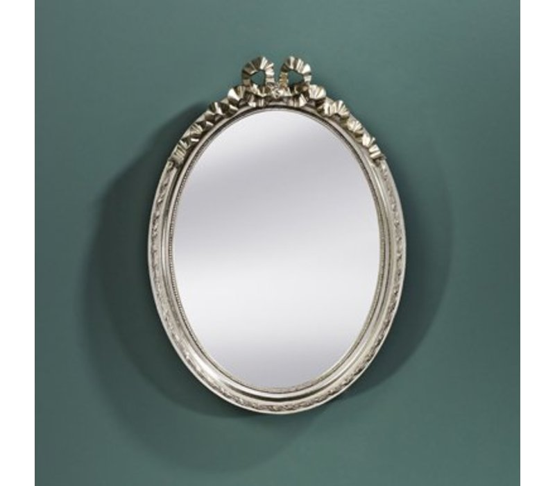 Kleiner Spiegel oval 'Cosy' 36 x 50 cm - Silber