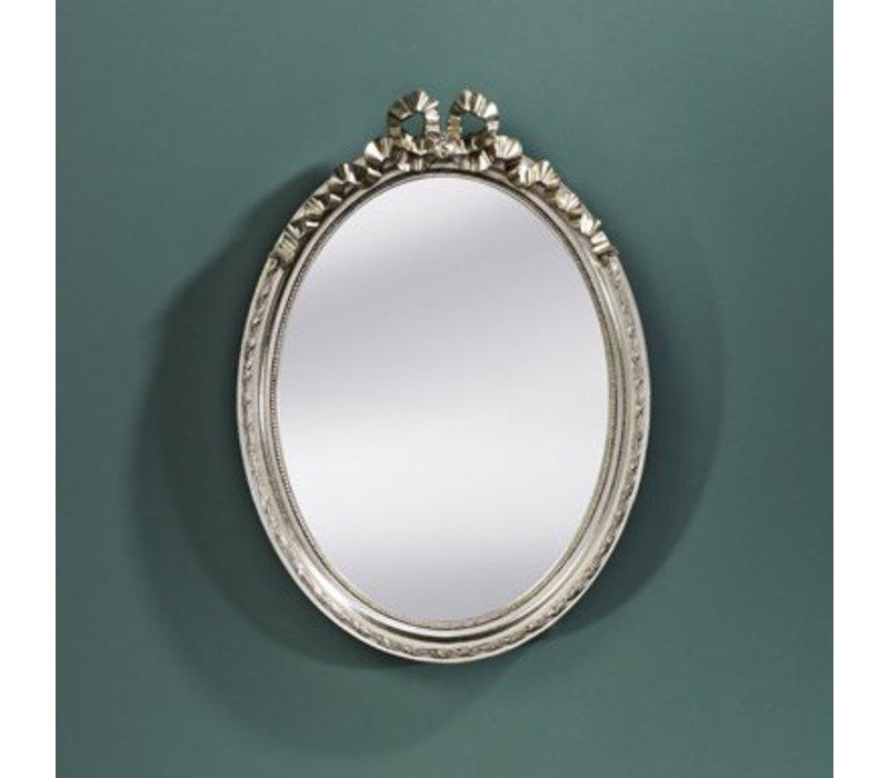 Small oval mirror 'Cosy' 36x50cm in silver