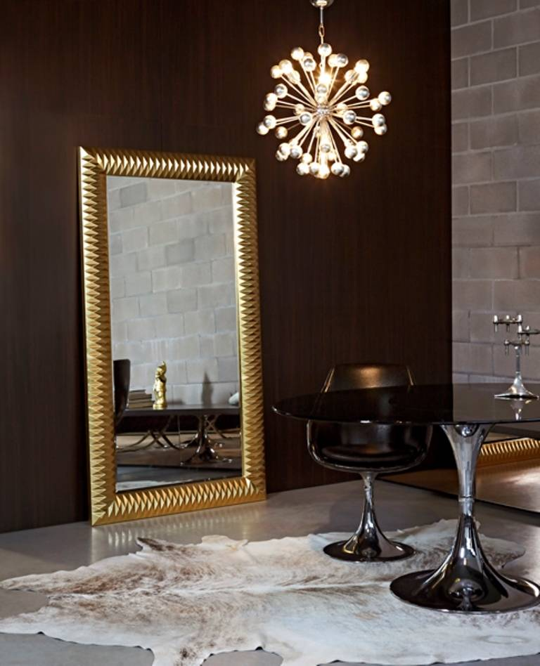 Large Mirror Nick In Gold