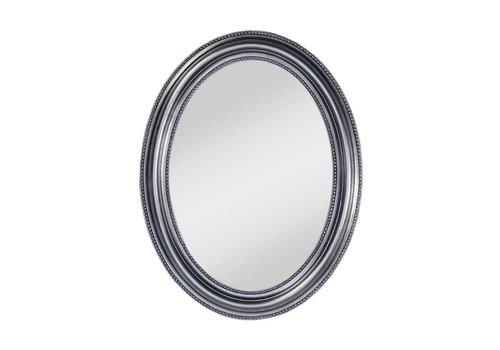 Deknudt oval mirror in silver