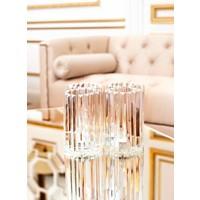 Gläserner Kerzenständer aus Kristall 'Howell' 2 Stück