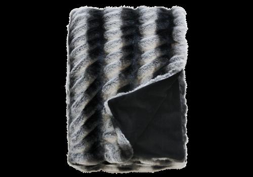 Heirloom / Mulberi by Furtex Fur Plaid - Ruched Chincilla