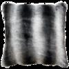 Heirloom / Mulberi by Furtex Pelzkissen 'Ruched Chincilla' 45x45cm