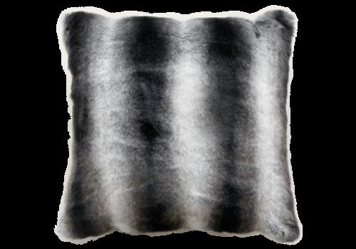 Heirloom / Mulberi by Furtex Fur Cushion - Ruched Chincilla