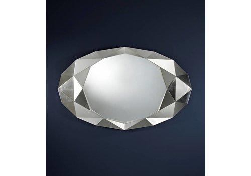 Deknudt wall mirror in silver 'Precious'