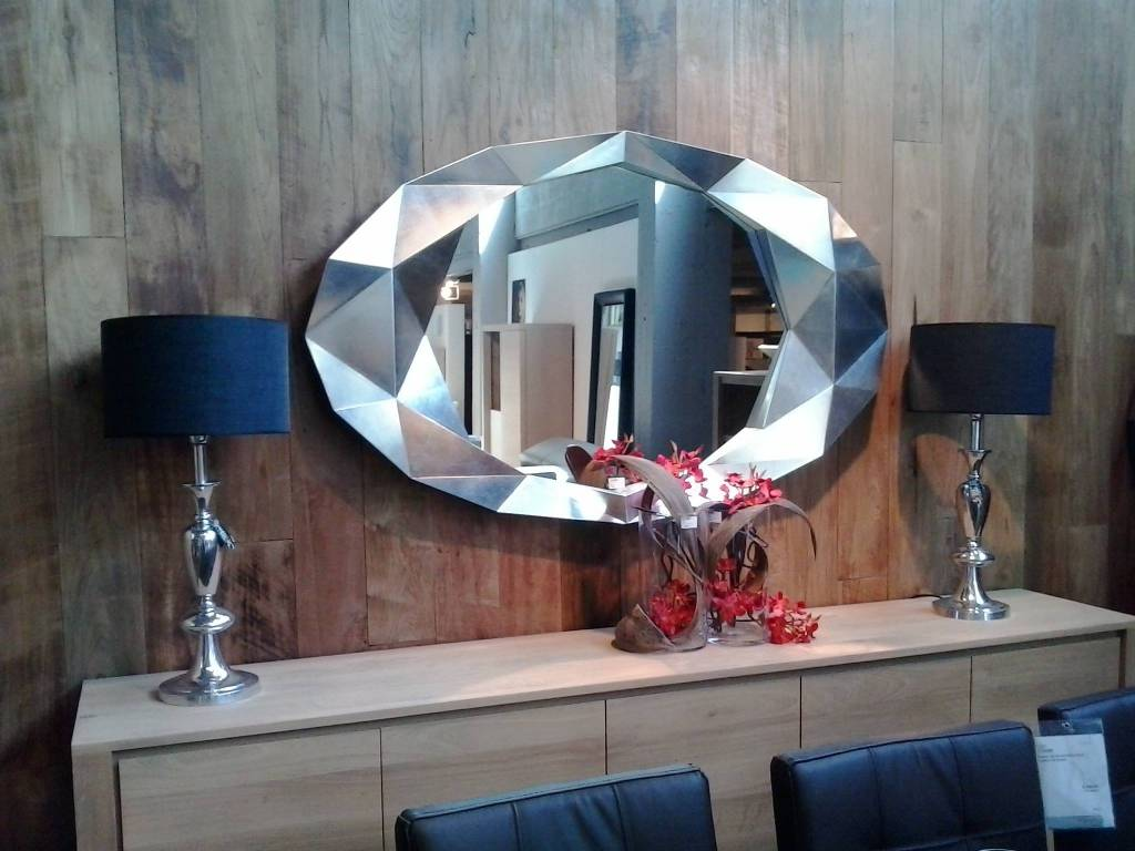 Deknudt wall mirror precious in silver wilhelmina designs
