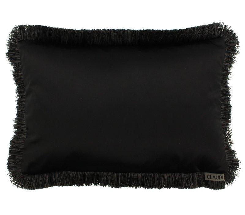 Zierkissen Dafne  Black Fringe Black/Taupe