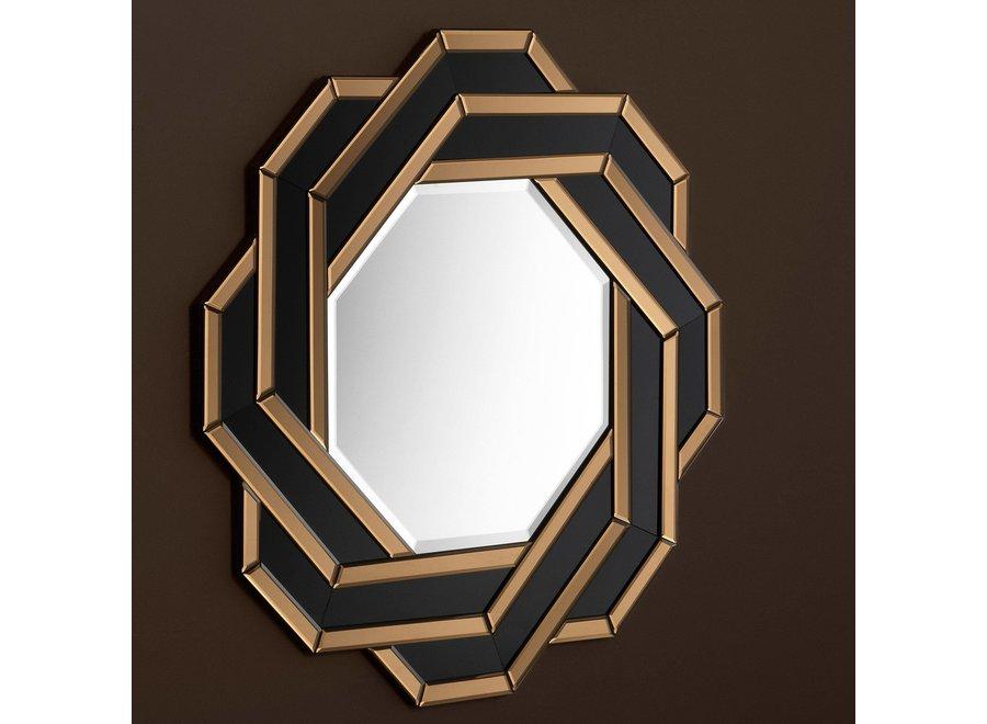Amber/ Zwart spiegel 'Mulini'