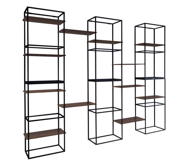 Modular rack 'Java' - Maccasar Wood brown