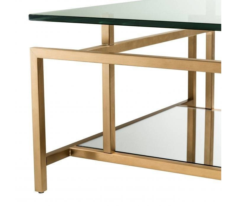Coffee table 'Superia' - Brass