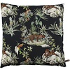 CLAUDI Cushion Panther Leaf Black