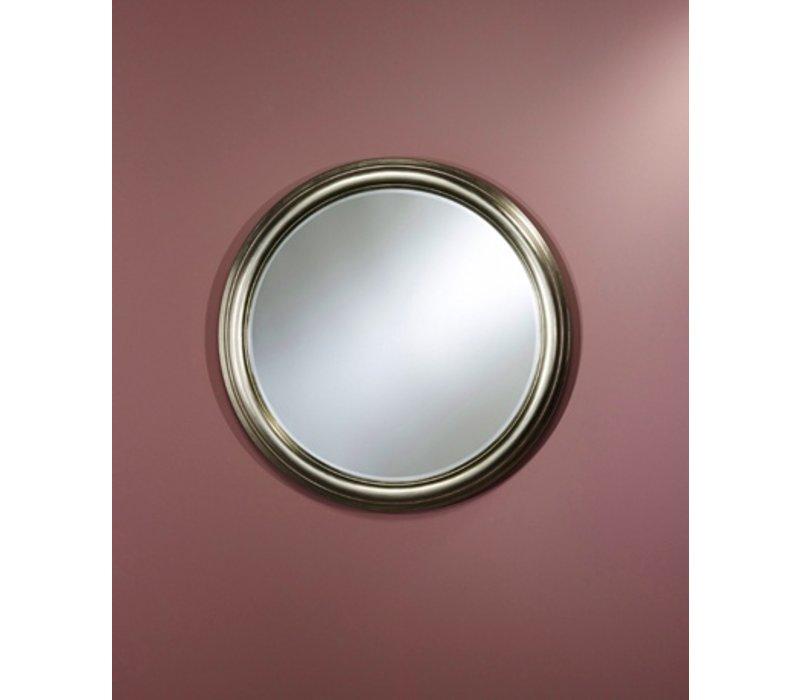 Zilveren spiegel rond 'Ring' diameter 91cm