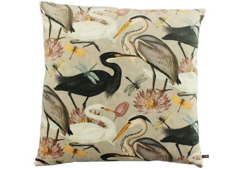 CLAUDI Cushion Bibi Velvet Crane Sand