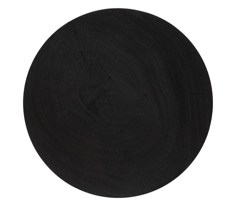 Round coffee table 'Suar' - Wood black