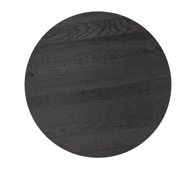 Coffee table 'Moma' - Wood black - 55 cm