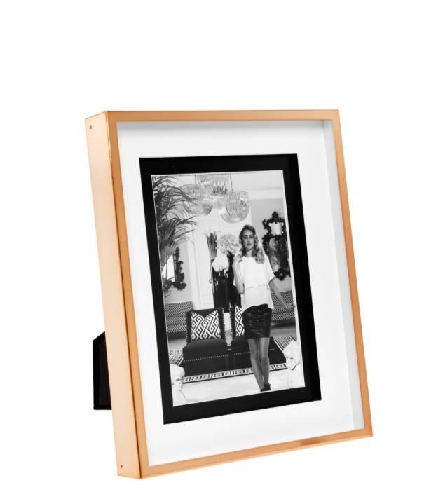 Grote Lijst Met Passepartout.Eichholtz Fotolijst Gramercy Small In Rose Goud