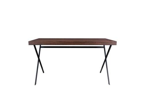Dome Deco Desk 'Plato' - Maccasar Wood brown - 140 cm