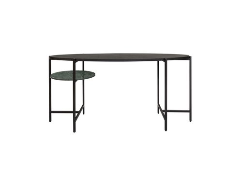 Dome Deco Desk 'Voltaire' - Wood and Marble