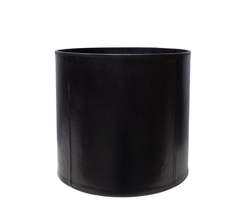 Mülleimer aus Leder - Schwarz