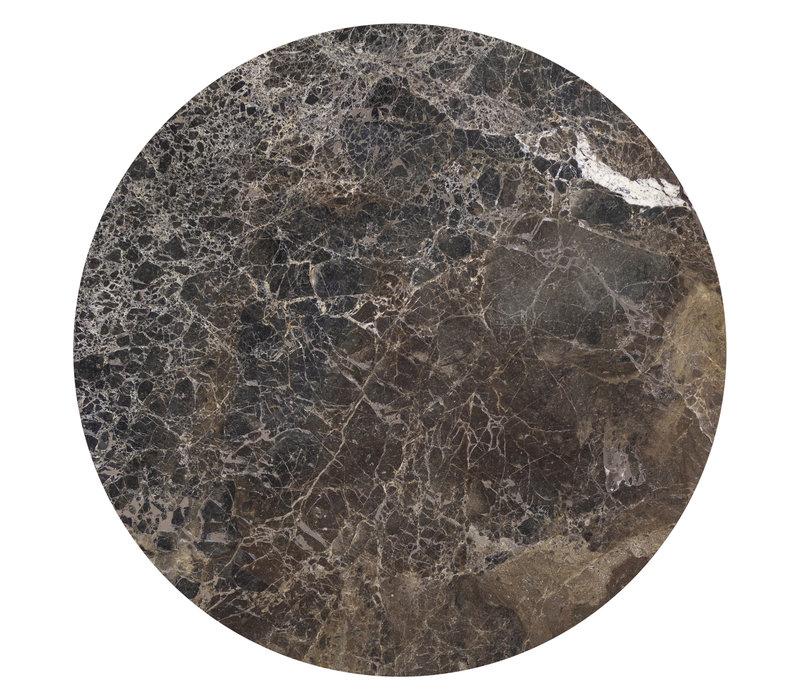 Coffee table 'Moma' - Emperador Marble - 90 cm
