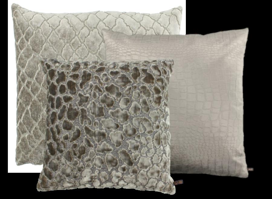 Cushion combination Sand/Taupe: Paride, Opila & Ochnicio