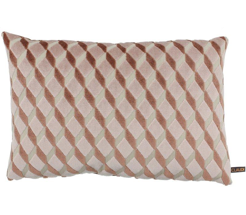 Throw pillow Dinandi Rose Marsala