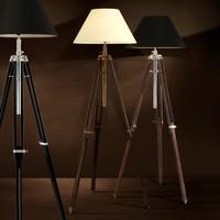 Dreibein Lampe 'Telescope' Wood/Brass