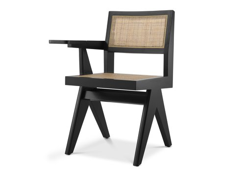 EICHHOLTZ Chair with desk Niclas - Black