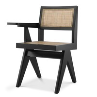 Chair with desk 'Niclas' - Black
