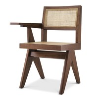 Chair with desk 'Niclas' - Brown