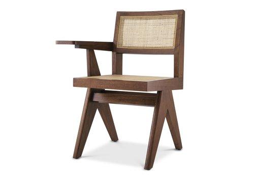 EICHHOLTZ Chair with desk Niclas - Brown