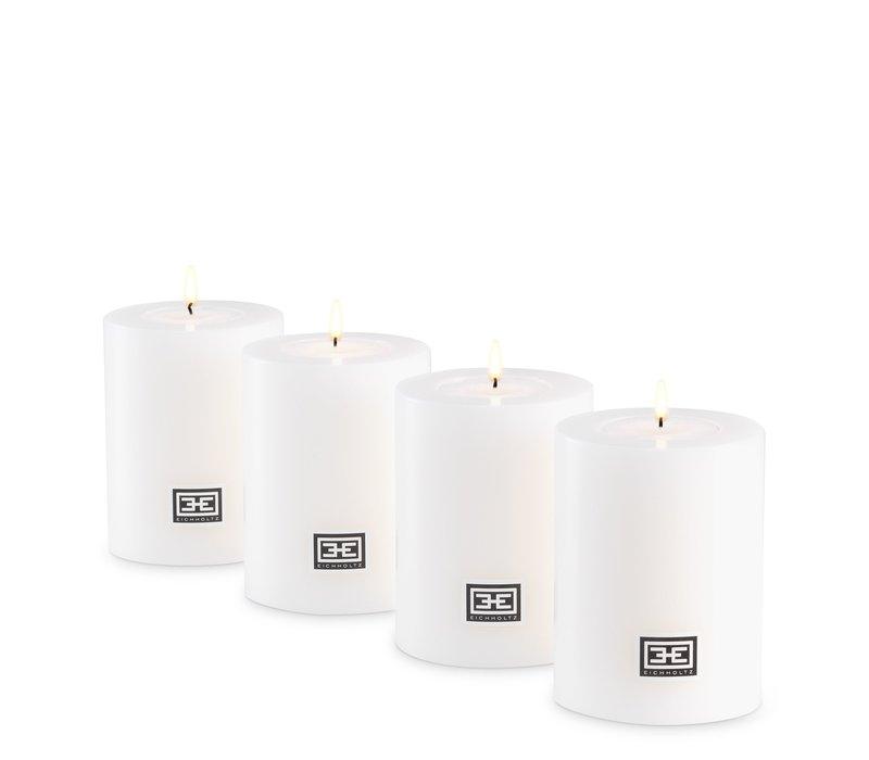 Artificial candles L - 2 pieces - 7x9 cm
