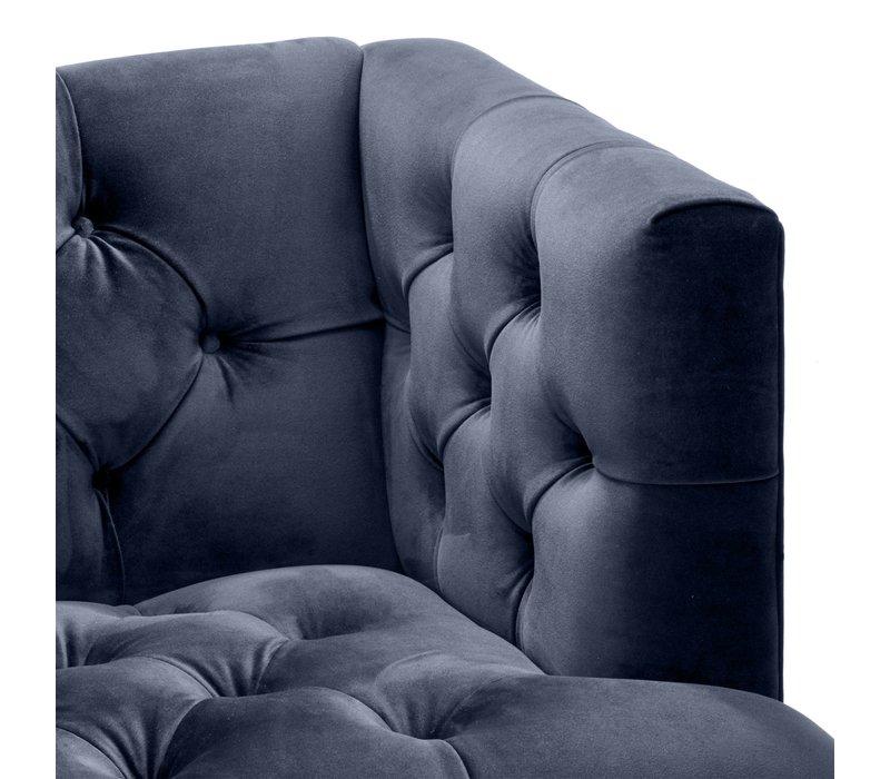 Armchair Castelle - Savona midnight blue velvet