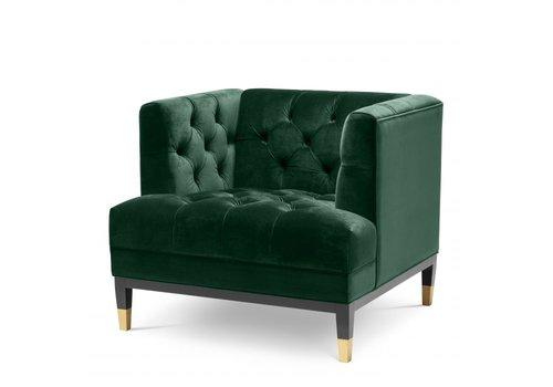 EICHHOLTZ Fauteuil Castelle - Roche dark green velvet