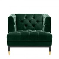 Armchair Castelle - Roche dark green velvet