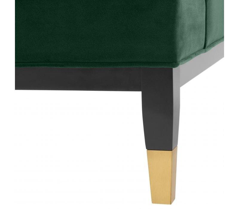 Sessel Castelle - Roche dark green velvet