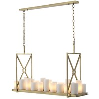Chandelier 'Commodore' brushed brass finish