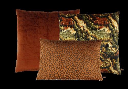 CLAUDI Dekokissen Set Rust & Burned Orange: Pheasant, Izett & Speranza
