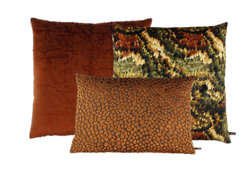 CLAUDI Kussencombinatie Rust & Burned Orange: Pheasant, Izett & Speranza