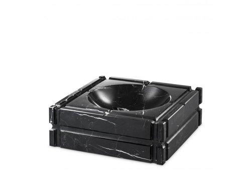 EICHHOLTZ Aschenbecher 'Nestor'  schwarzer marmor